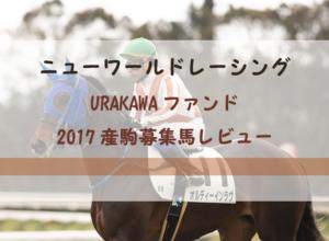 【一口馬主】ニューワールドレーシング URAKAWAファンド 募集馬評価